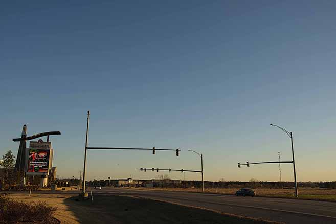 The new intersections will be built near the Wind Creek Casino entrance.